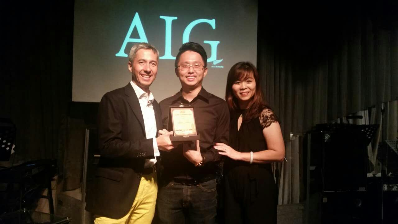 Received Award from CEO AIG Malaysia